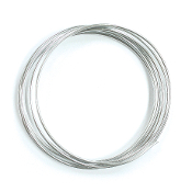 2 M X 2 MM CRAFT WIRE - SILVER (24 PACKS) PF-4223