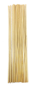 "12 PC 0.25"" X 12"" WOODEN DOWEL - NATURAL (24 PACKS) PF-3315"