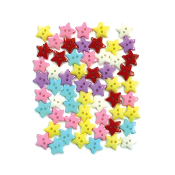 "60 PC 0.5"" STAR SHAPE BUTTONS - ASSORTED (24 PACKS) PF-4365"