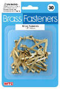 "30 PC 1.5"" BRASS FASTENERS (24 PACKS) PF-4400"