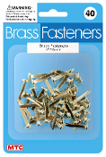 "40 PC 1"" BRASS FASTENERS (24 PACKS) PF-4399"
