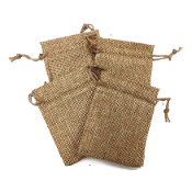 "4 PCS 2.75"" X 3.5"" BURLAP BAGS - NATURAL (24 PACKS) PF-4296"