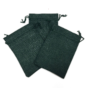 "3 PCS 4 ""X 5.5"" BURLAP BAGS - GREEN (24 PACKS) PF-4305"