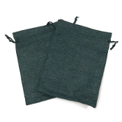 "2 PCS 5.5"" X 8"" BURLAP BAGS - GREEN (24 PACKS) PF-4311"