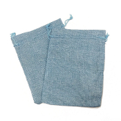 "2 PCS 5.5"" X 8"" BURLAP BAGS - LIGHT BLUE (24 PACKS) PF-4313"