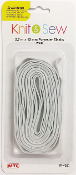 9 FT X 12 MM POLYESTER ELASTIC - WHITE (24 PACKS) PF-4260