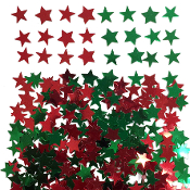 2/3 OZ CONFETTI - CHRISTMAS STARS (24PACKS) PF-4058