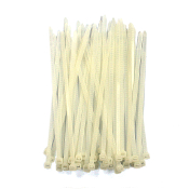 "40 PC 6"" (15 CM) X 5 MM CABLE TIES-WHITE (24 PACKS) PF-4271"