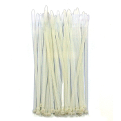 "36 PC 8"" (20 CM) X 5 MM CABLE TIES-WHITE (24 PACKS) PF-4273"
