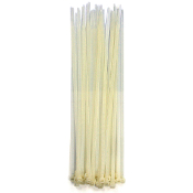 "30 PC 10"" (25 CM) X 5 MM CABLE TIES-WHITE (24 PACKS) PF-4275"