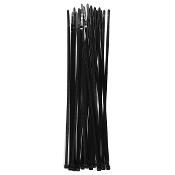 "24 PC 12"" (30 CM) X 5 MM CABLE TIES-BLACK (24 PACKS) PF-4278"