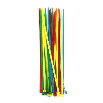"30 PC 10"" (25 CM) X 5 MM CABLE TIES-ASSORTED (24 PACKS) PF-4281"