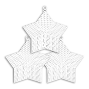 "3 PC 6"" STAR PLASTIC CANVAS-CLEAR (24 PACKS) PF-4320"