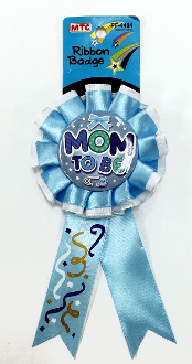 RIBBON BADGES - MOM TO BE BLUE (24 PCS) PF-4484