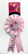 RIBBON BADGES - BABY SHOWER PINK (24 PCS) PF-4487