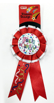 RIBBON BADGES - FELIZ CUMPLEANOS (24 PCS) PF-4488