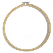 "10"" BAMBOO EMBROIDERY HOOP (8 PACKS) 38014"