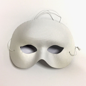 "7.5"" WHITE FACE MASK (24 PCS) PF-4421"