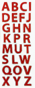 "1.25"" GLITTER LETTER STICKERS-RED (24 PACKS) PF-4437"