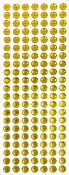 147 PC 10 MM LARGE RHINESTONE STICKERS-GOLD (24 PACKS) PF-4424