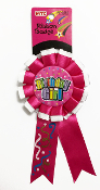 RIBBON BADGES - BIRTHDAY GIRL (24 PCS) PF-6519