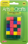 48 PC 1CM WOOD CUBES - ASSORTED (24 PACKS) PF-4373