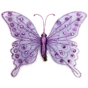 "8"" BUTTERFLY CLIP-PURPLE (24 PACKS) PF-4499"