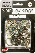 40 PC 2.5CM SPLIT KEY RINGS (24 PACKS) PF-4150