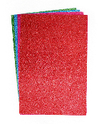 "4 PC 8""X12"" GLITTER EVA SHEET - ASST COLORS (24 PACKS) PF-3828"