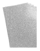 "4 PC 8""X12"" GLITTERED EVA FOAM SHEETS-SILVER (24 PACKS) PF-4349"