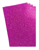"4 PC 8""X12"" GLITTERED EVA FOAM SHEETS-MAGENTA (24 PACKS) PF-4345"