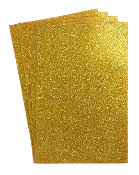 "4 PC 8""X12"" GLITTERED EVA FOAM SHEETS-GOLD (24 PACKS) PF-4348"