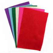 "6PC 5.5""X8.5"" FELT SHEETS-ASST.COLORS (24 PACKS) PF-4546"