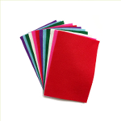 "12PC 4""X6"" FELT SHEETS-ASST.COLORS (24 PACKS) PF-4547"
