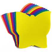 12 PC 14 CM EVA BUTTERFLYFOAM SHEETS-ASSORTED (24 PACKS) PF-4590