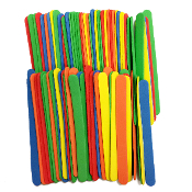"80 PCS 4.5"" X 0.5"" FOAM STICKS - ASSORTED (24 PACKS) PF-4597"
