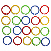 20 PCS 3 CM PLASTIC RINGS - ASSORTED (24 PACKS) PF-4544