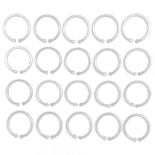20 PCS 3 CM PLASTIC RINGS - WHITE (24 PACKS) PF-4543