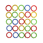 25 PCS 2.5 CM PLASTIC RINGS - ASSORTED (24 PACKS) PF-4542
