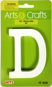 "4.5"" WOOD LETTER - D (24 PACKS) PF-4566"