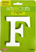 "4.5"" WOOD LETTER - F (24 PACKS) PF-4568"