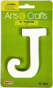"4.5"" WOOD LETTER - J (24 PACKS) PF-4572"