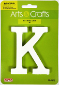 "4.5"" WOOD LETTER - K (24 PACKS) PF-4573"