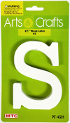 "4.5"" WOOD LETTER - S (24 PACKS) PF-4581"