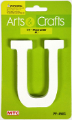 "4.5"" WOOD LETTER - U (24 PACKS) PF-4583"