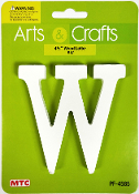 "4.5"" WOOD LETTER - W (24 PACKS) PF-4585"