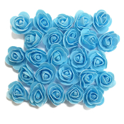 25 PCS 3.5 CM FOAM ROSES - LIGHT BLUE (24 PACKS) PF-4657