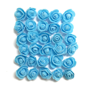 30 PCS 2.5 CM FOAM ROSES - LIGHT BLUE (24 PACKS) PF-4656