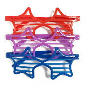 3 PC STAR SHUTTER GLASSES (24 PCS) PF-4680