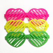 3 PC HEART SHUTTER GLASSES (24 PCS) PF-4679